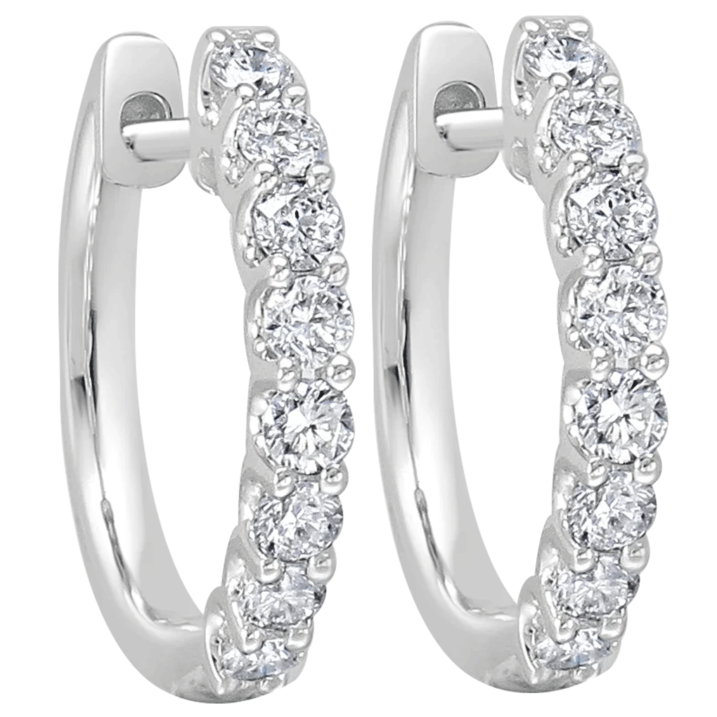 diamond-hoop-earrings