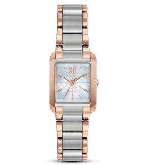 Citizen Watch BIANCA Beveled Sapphire Crystal ROSE GOLD-TONE