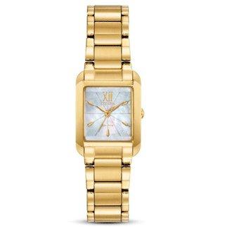 Citizen Watch BIANCA Beveled Sapphire Crystal Gold Tone