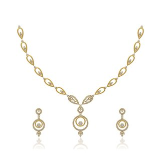 14k Yellow Gold 1.328 ct. Diamond Necklace / Earrings