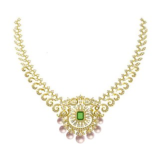 18k Yellow Gold 5.334 Ct. Diamond Diamond Necklace