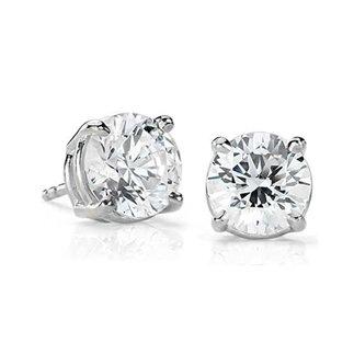 14k White Gold 1.00 ct. Diamond Stud Earrings