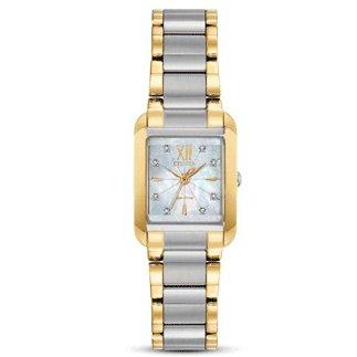 Citizen Watch BIANCA Beveled Sapphire Crystal 8 Diamonds
