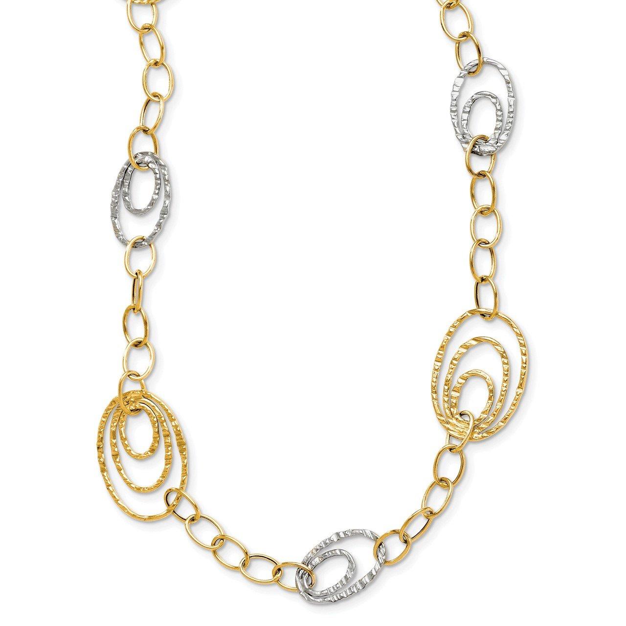 Leslie's 14K Two-tone Fancy Link Necklace
