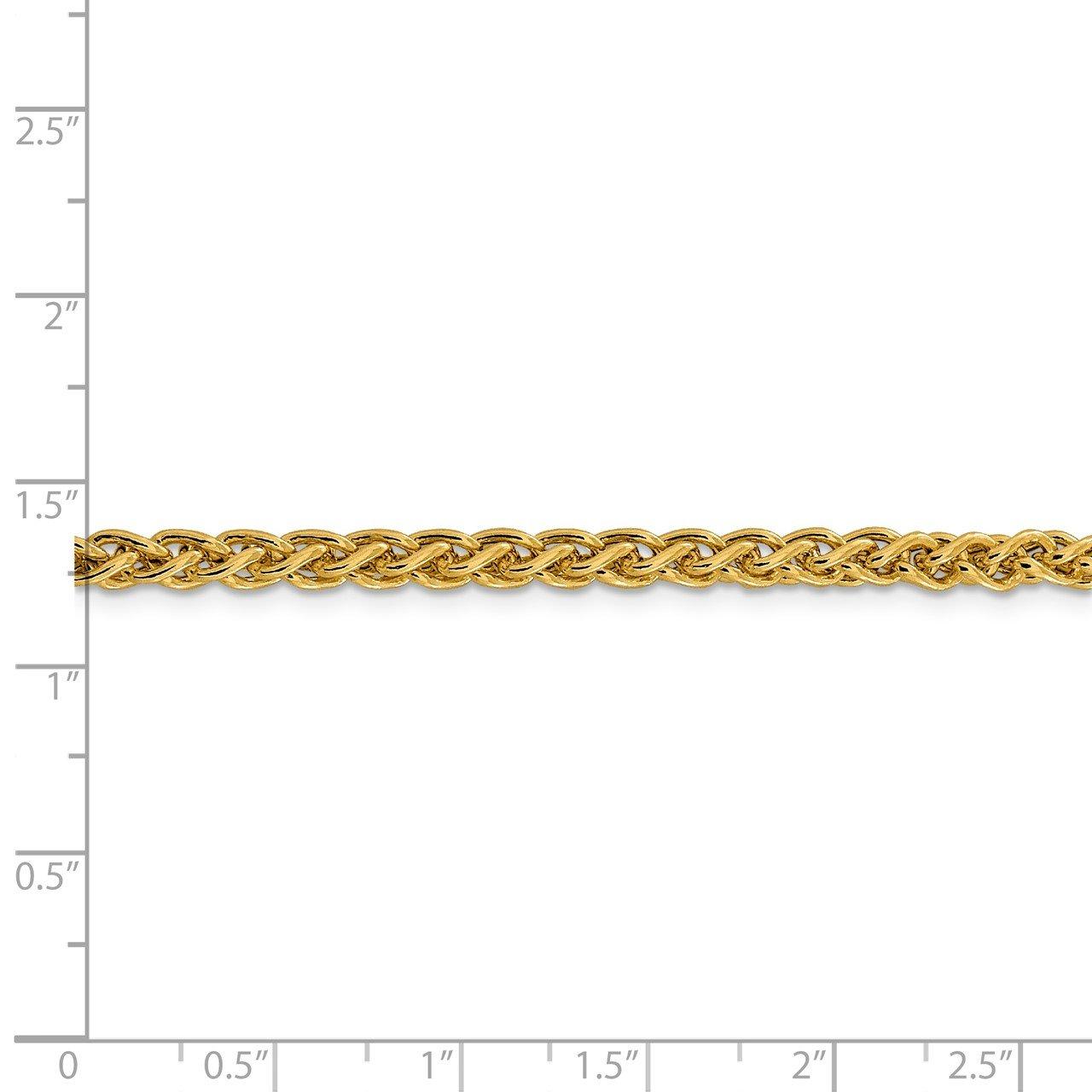 14k 4.15mm Semi-solid Wheat Chain-4
