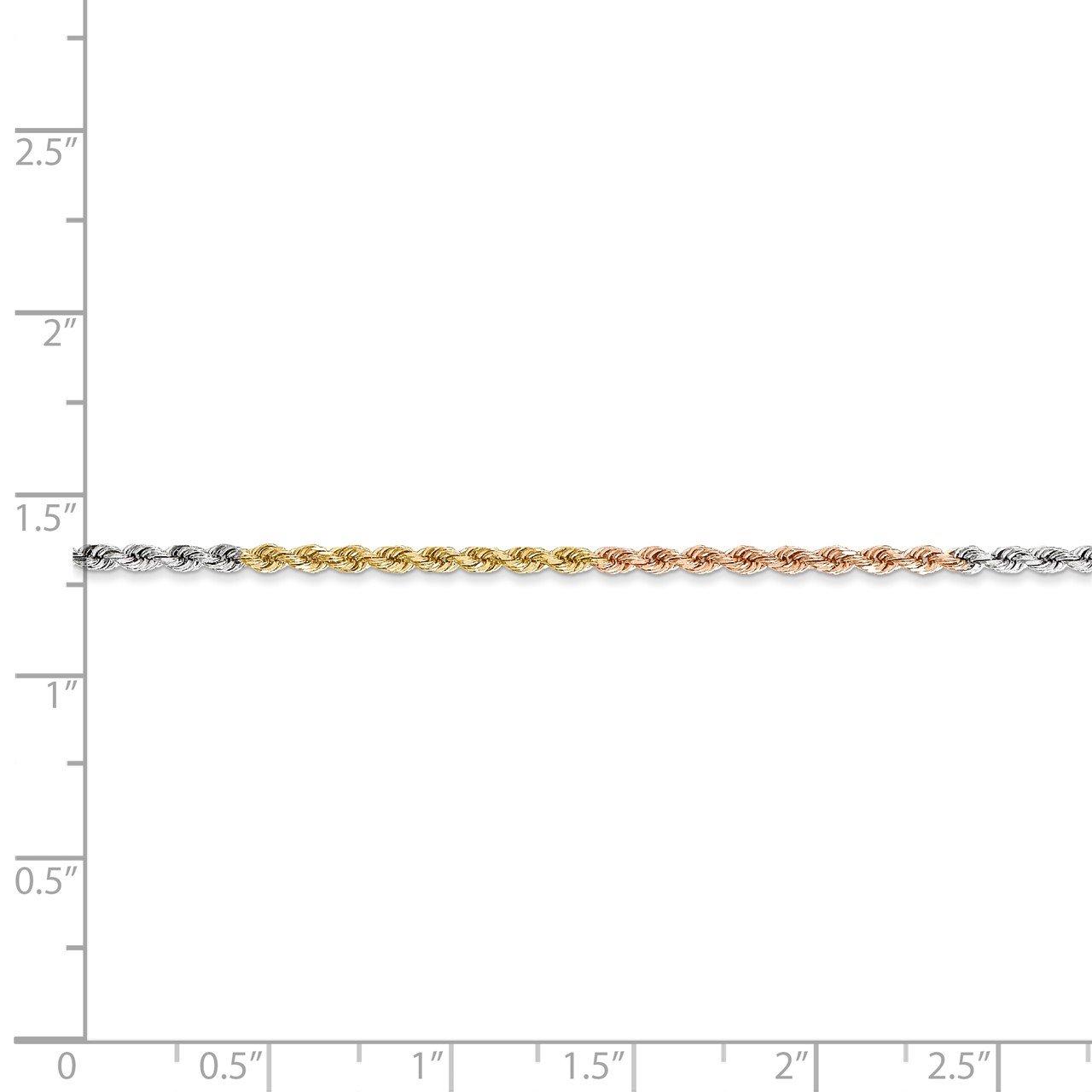 14k Tri-Color 1.75mm D/C Rope Chain-4