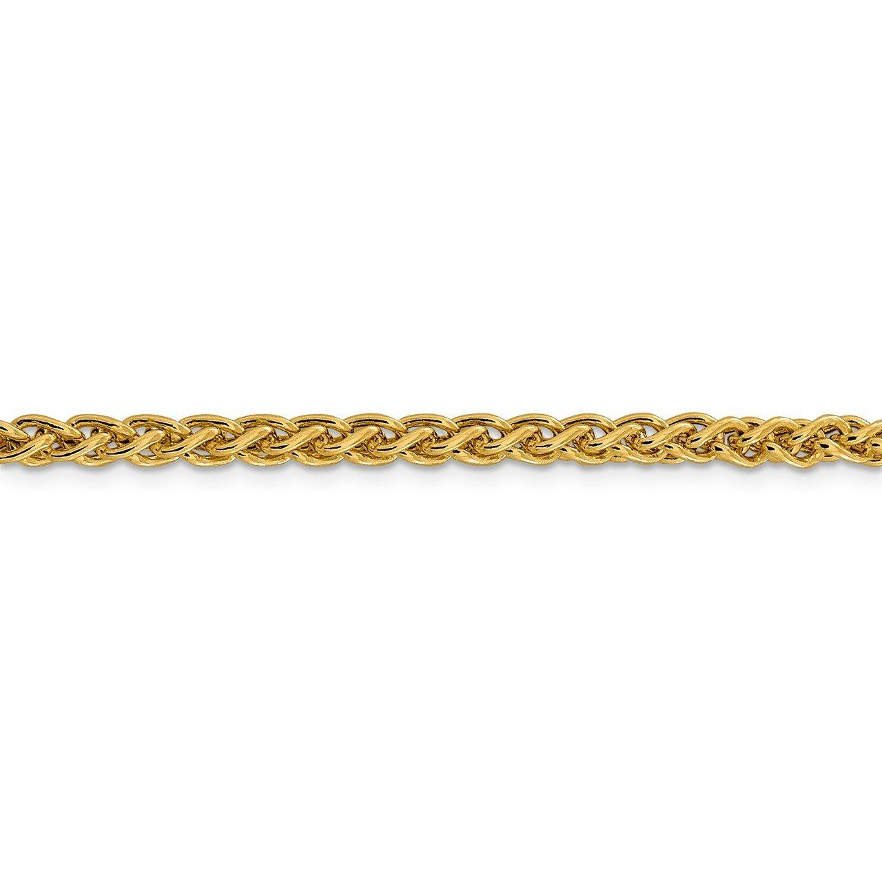 14k 4.15mm Semi-solid Wheat Chain-2