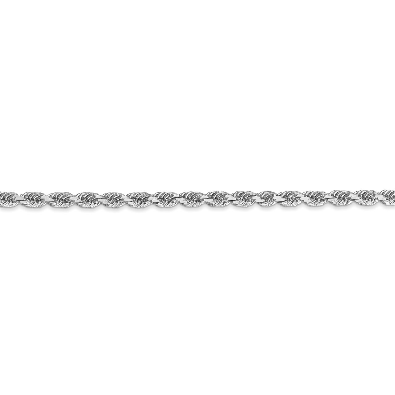 Leslie's 14K White Gold 3mm Diamond- cut Rope Chain-2