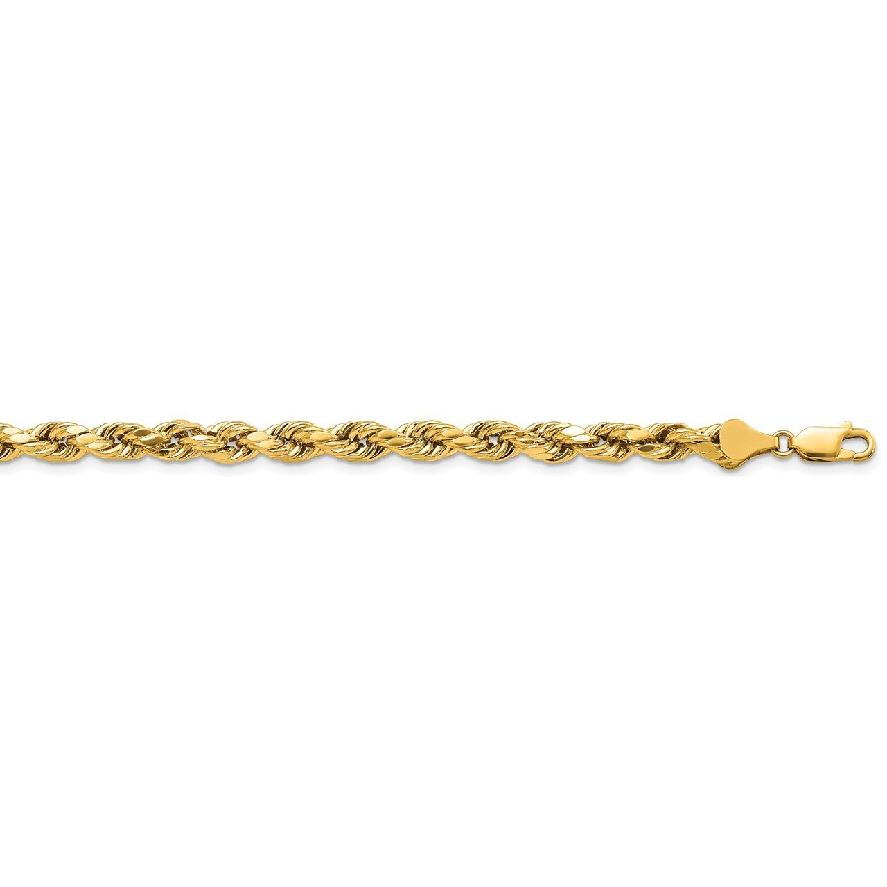 14k 5.5mm Semi-solid D/C Rope Chain