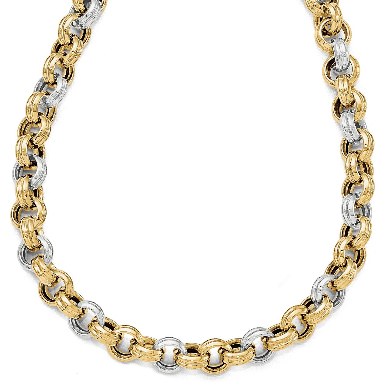 Leslie's 14K Two-tone Polished Fancy Necklace