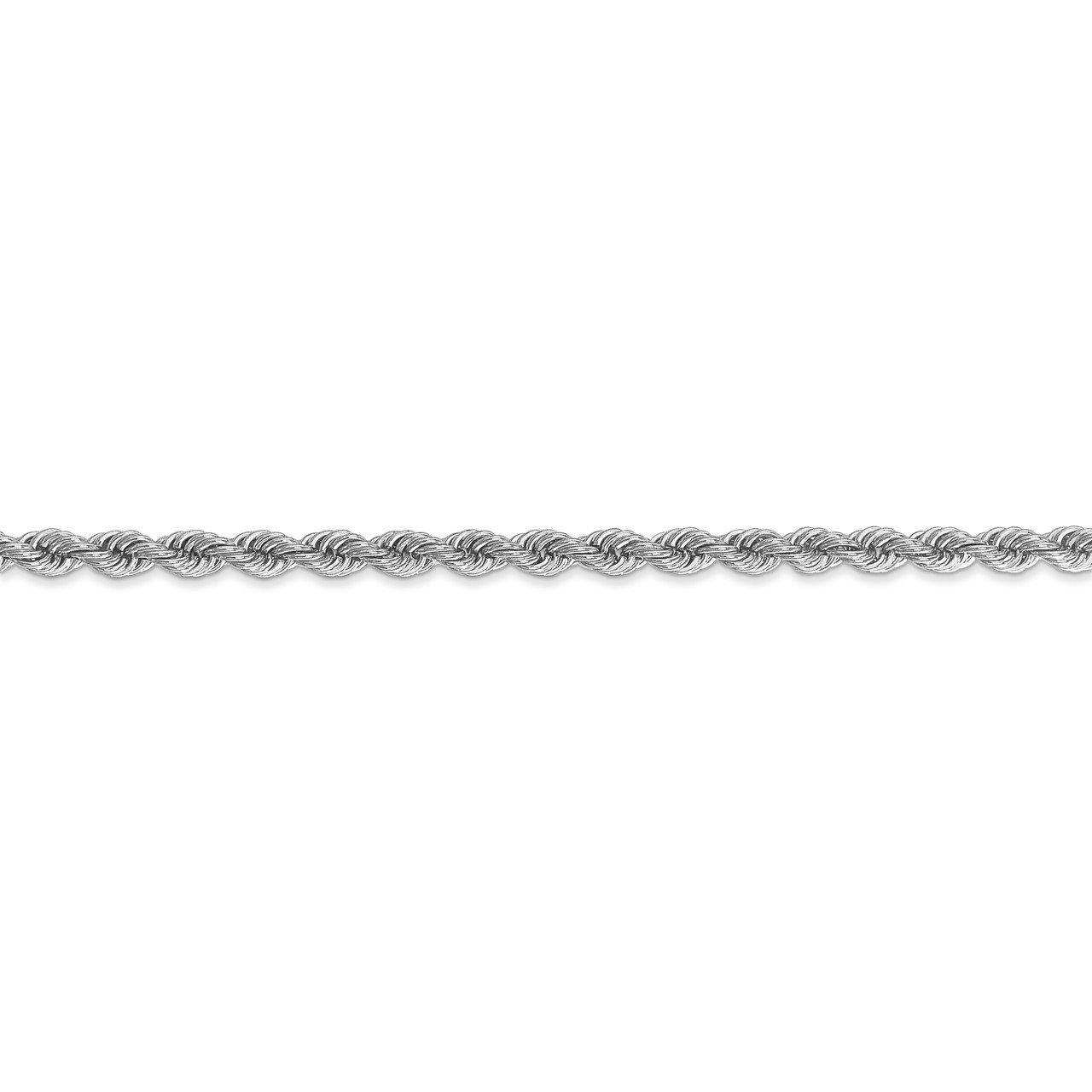 14k WG 3.0mm Regular Rope Chain-2