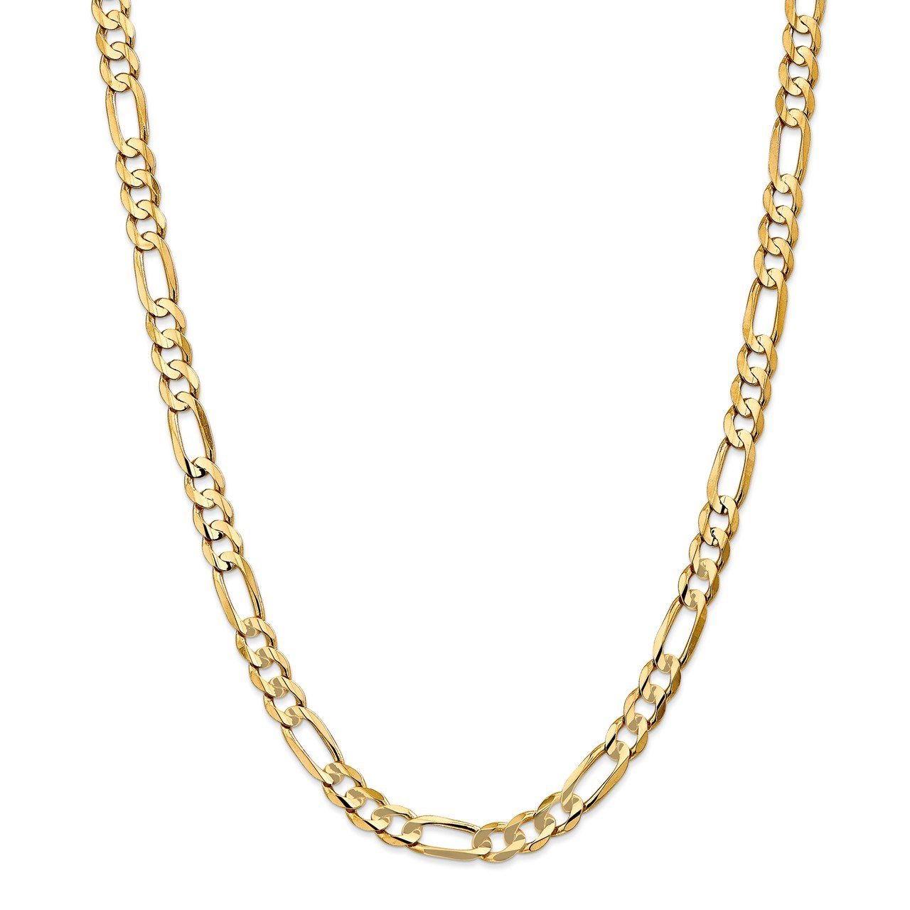 14k 6.75mm Concave Open Figaro Chain