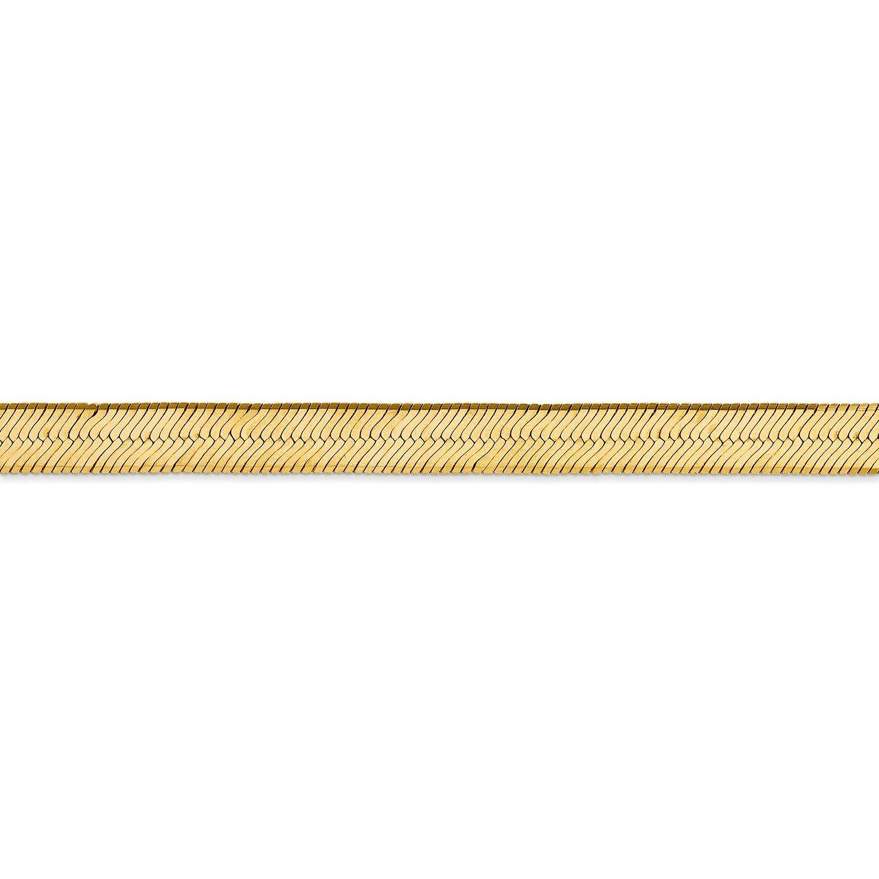 14k 6.5mm Silky Herringbone Chain-2