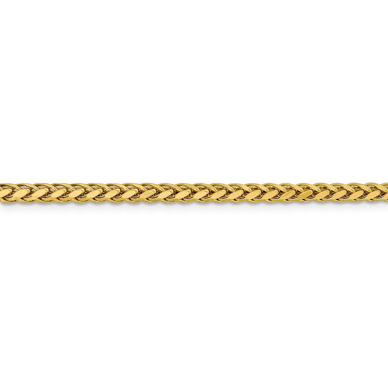 14k 3.1mm Semi-solid D/C Wheat Chain-2