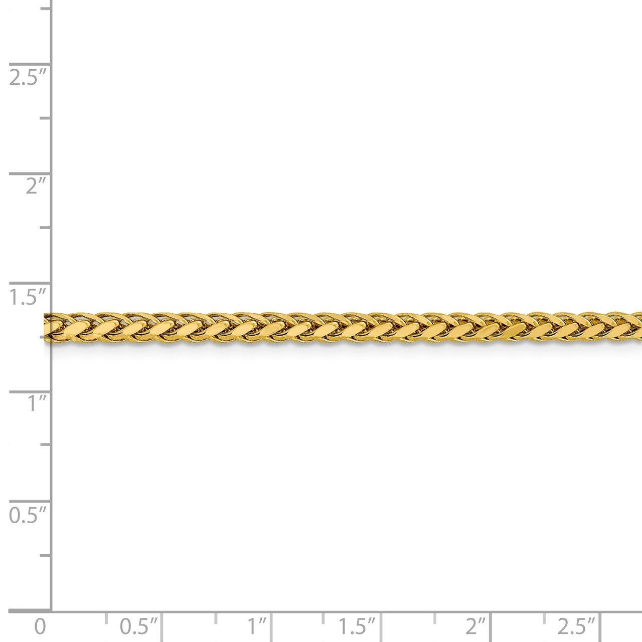 14k 3.1mm Semi-solid D/C Wheat Chain-4