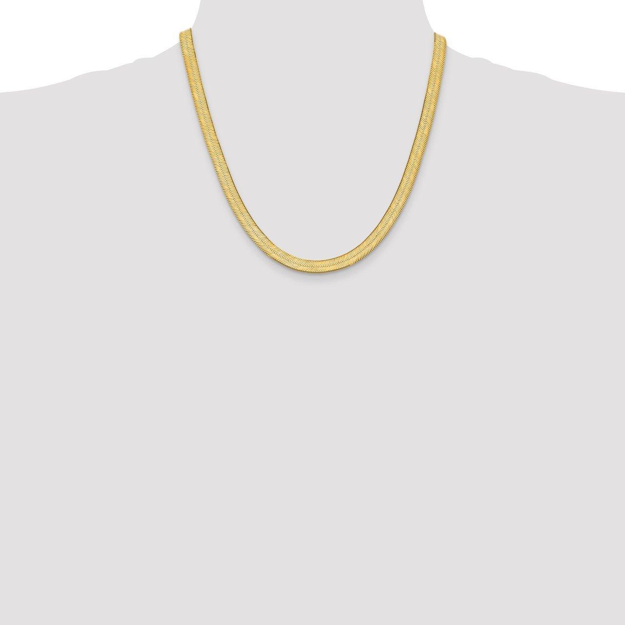 14k 6.5mm Silky Herringbone Chain-1