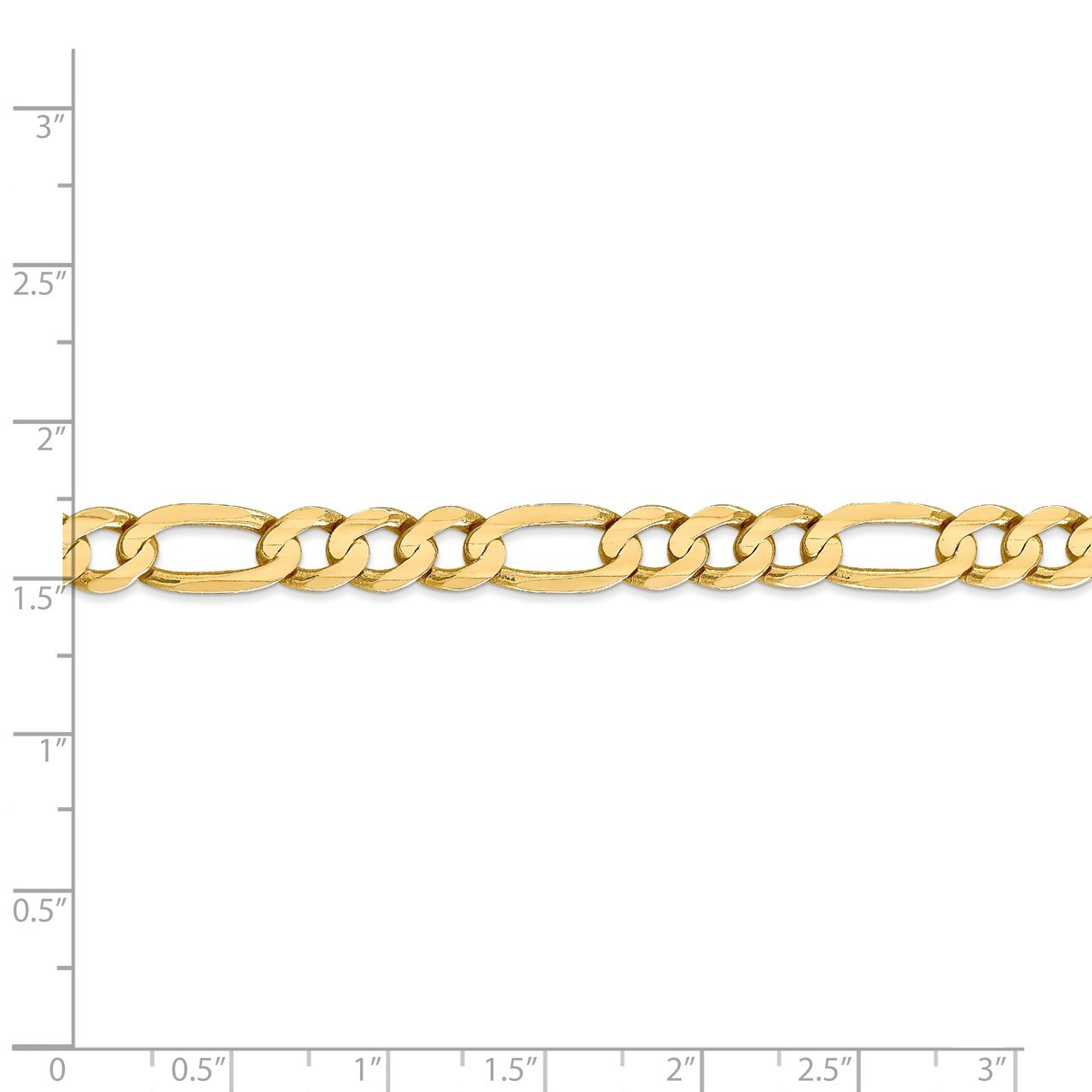14k 6.75mm Concave Open Figaro Chain-4