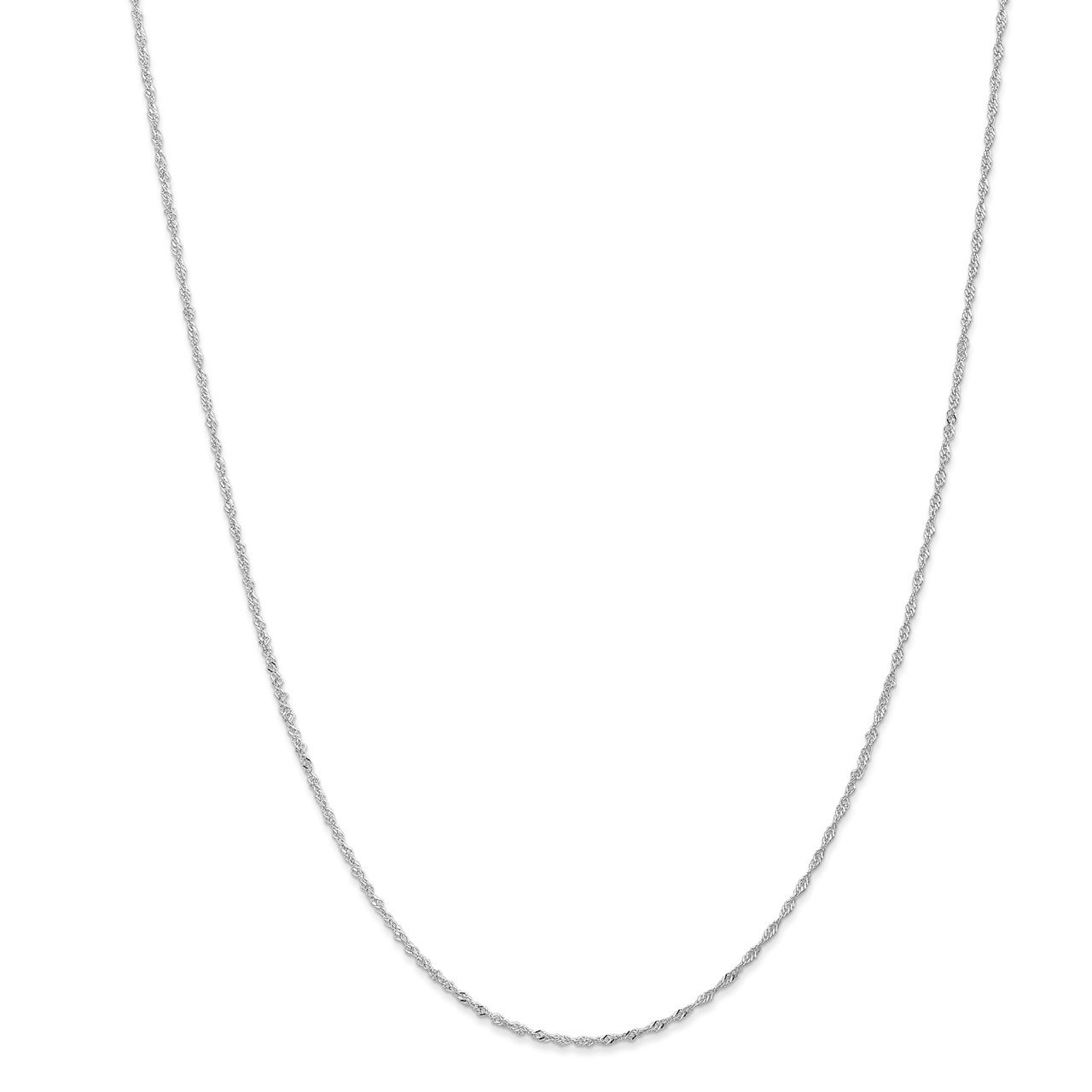 Leslie's 14K White Gold 1mm Singapore with Lobster Clasp Chain