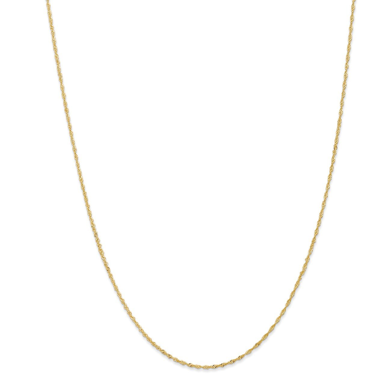 Leslie's 14K 1mm Singapore with Spring Ring Clasp Chain