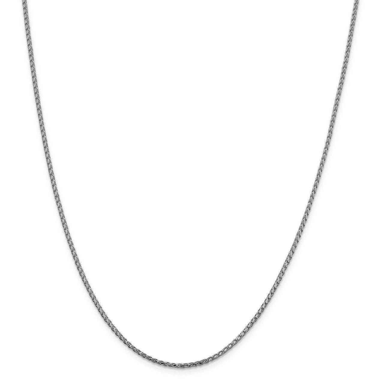 Leslie's 14K White Gold 1.6mm D/C Open Franco Chain