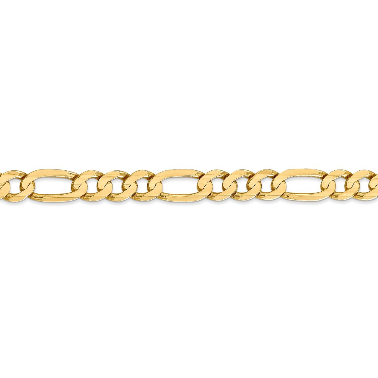 14k 6.75mm Concave Open Figaro Chain-2