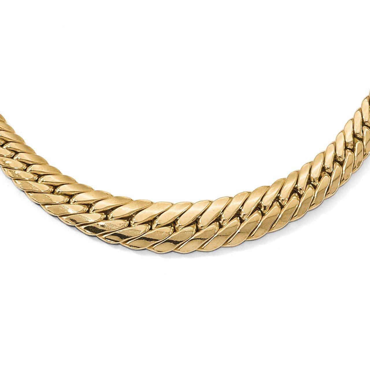 Leslie's 14K Polished Graduated Fancy Link Necklace