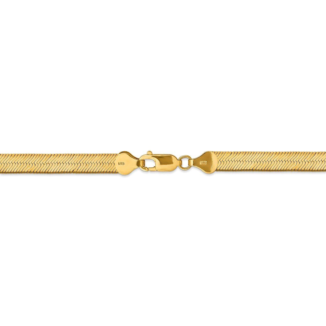 14k 6.5mm Silky Herringbone Chain-3