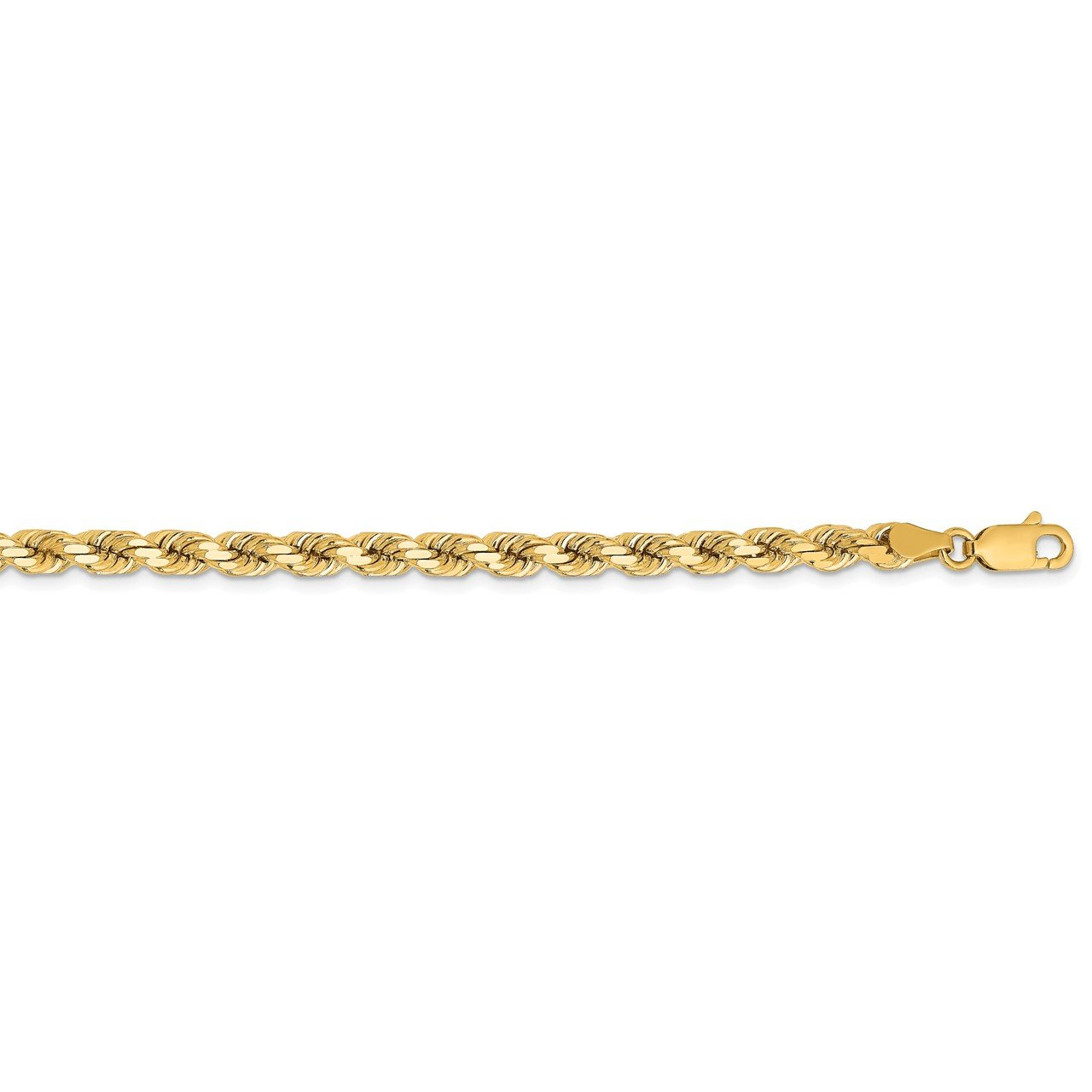 14K 4.25mm D/C Rope with Lobster Clasp Chain