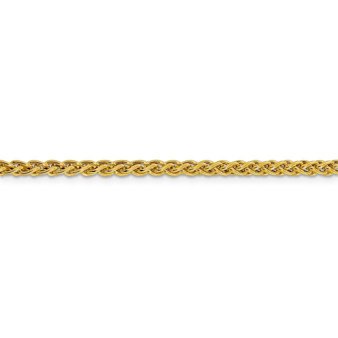 14k 3.45mm Semi-solid Wheat Chain-2