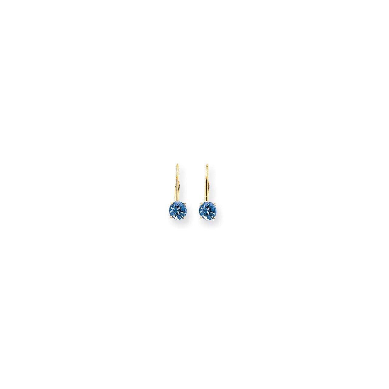 14k 5mm Tanzanite leverback earring
