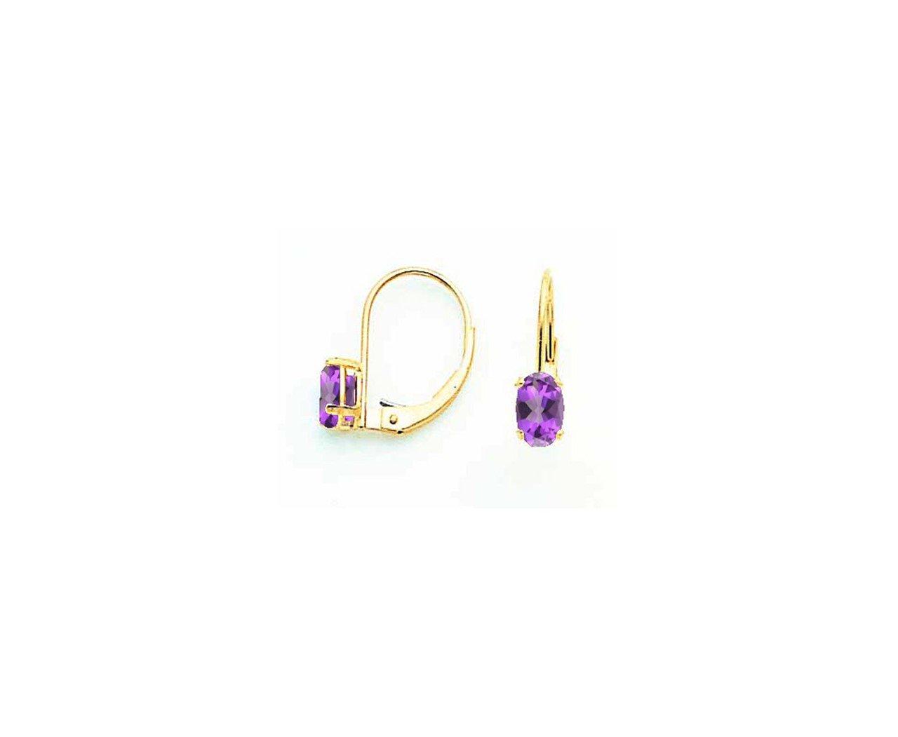 14k Tsavorite oval leverback earring