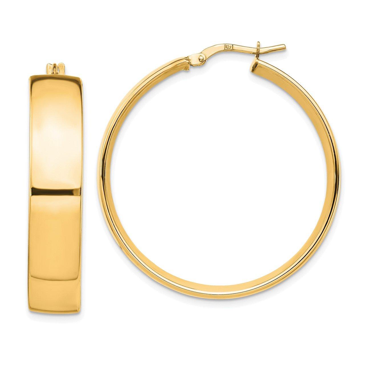 Leslie's 14K 7.75mm High Polished Hoop Earrings