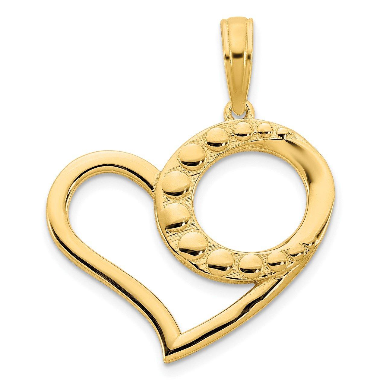 14k Fancy Heart Pendant