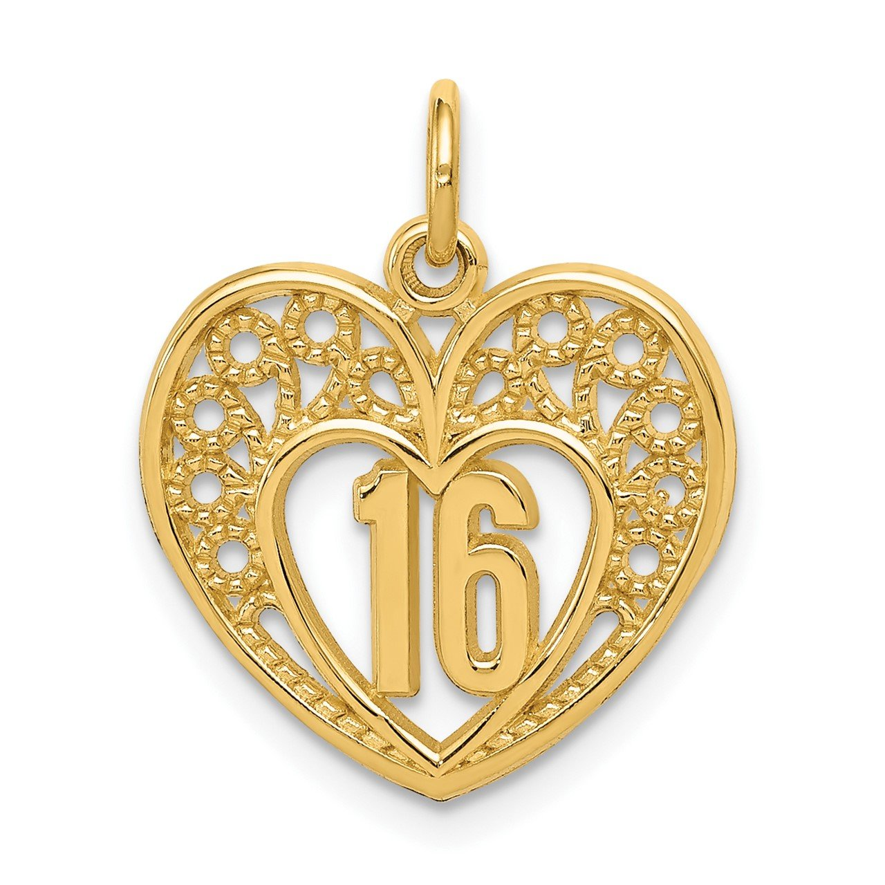 14k 16 Heart Charm