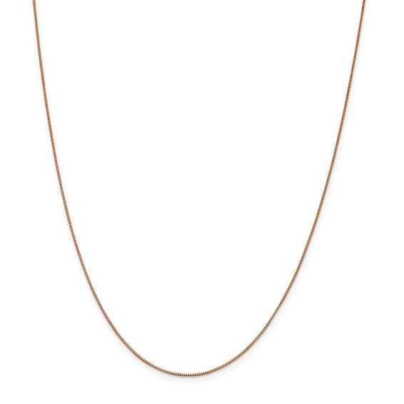 14k Rose Gold .70mm Box Chain