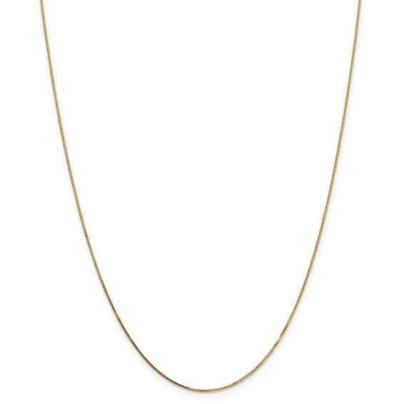 Leslie's 14K .8mm Box with Spring Ring Clasp Chain