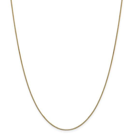 14k .9mm Box with Lobster Clasp Chain