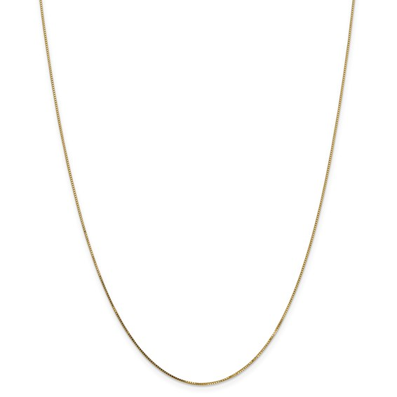 14k .7mm Box with Spring Ring Clasp Chain