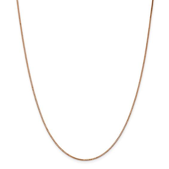14k Rose Gold 1.1 mm Box Chain