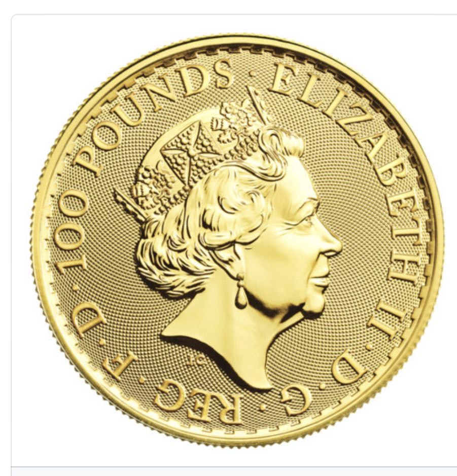 1 Oz Elizabeth II Gold Coin