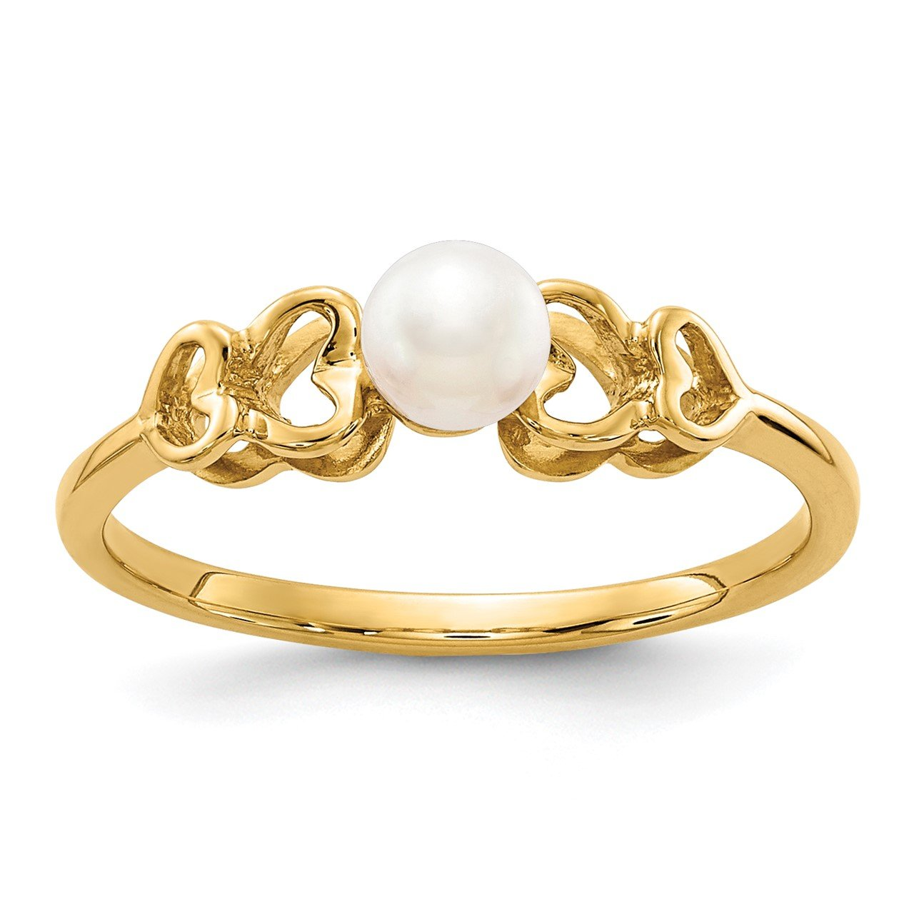 14k 4mm FW Cultured Pearl Ring