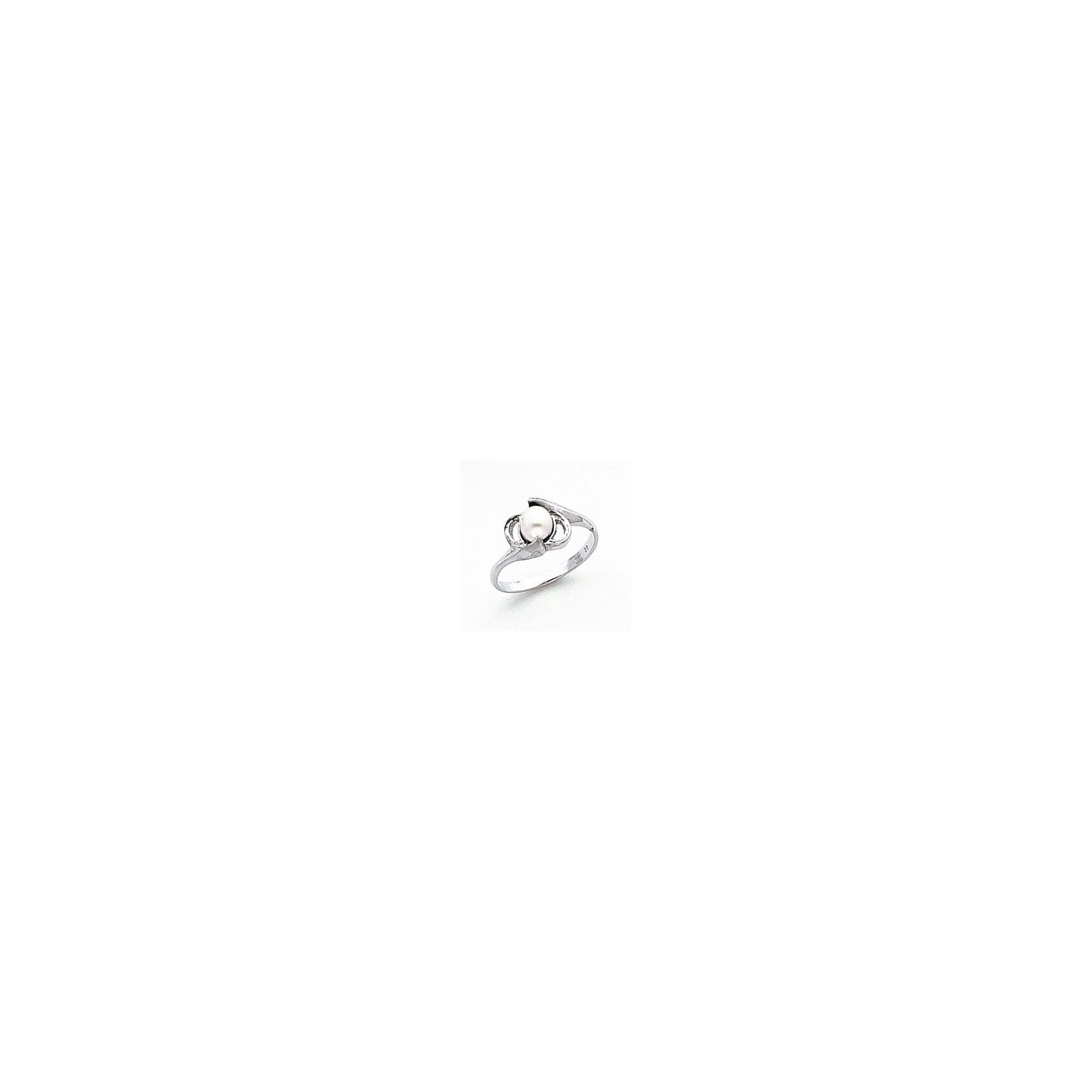 14k White Gold 5.5mm FW Cultured Pearl ring